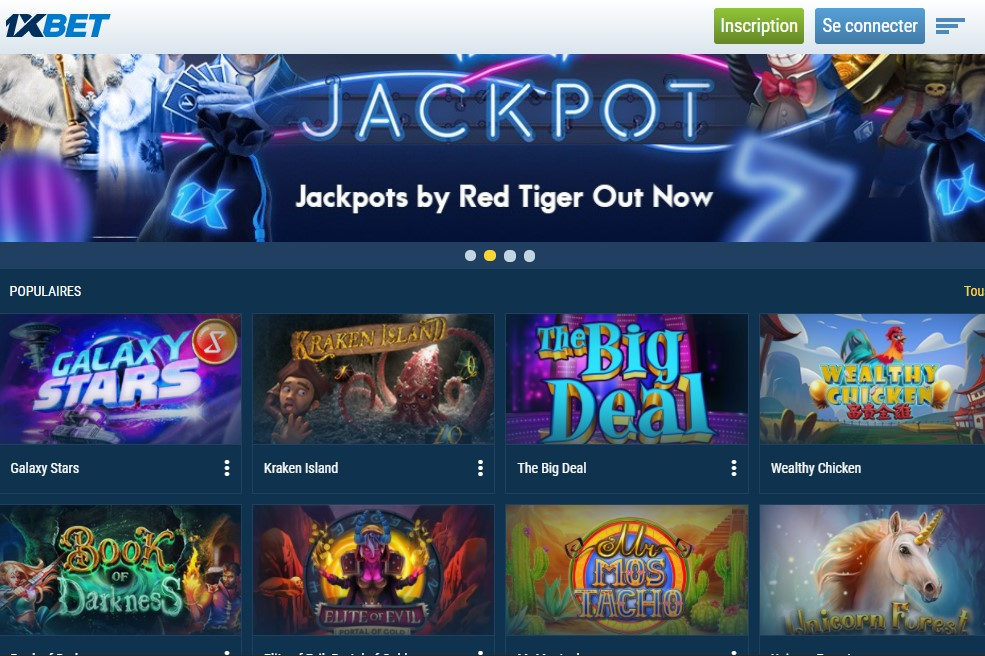 1XBET Casino mobile